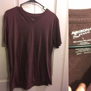 soft maroon v neck